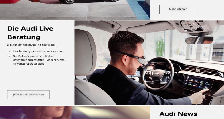 Audi mise sur son dispositif de visioconférence en Allemagne