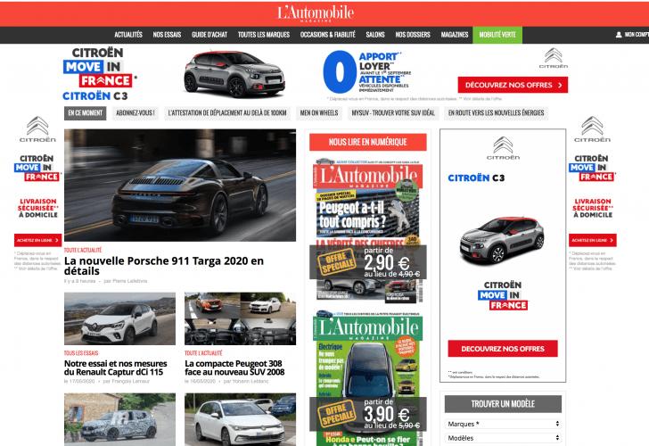 L'Automobile Magazine offre du rédactionnel Internet à ses annonceurs