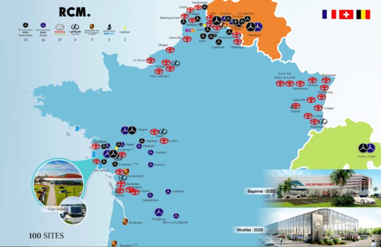 Le groupe RCM rachète la concession Mercedes de Charleroi