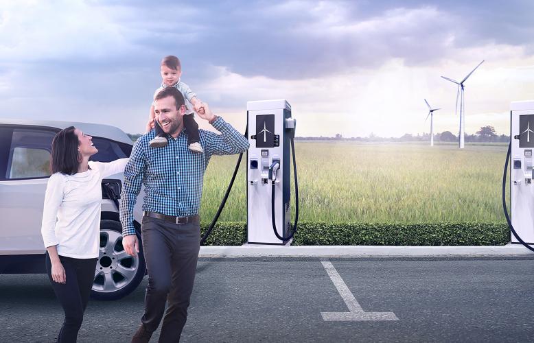 Kallista Energy dévoile son projet de bornes de recharge alimentées par des éoliennes