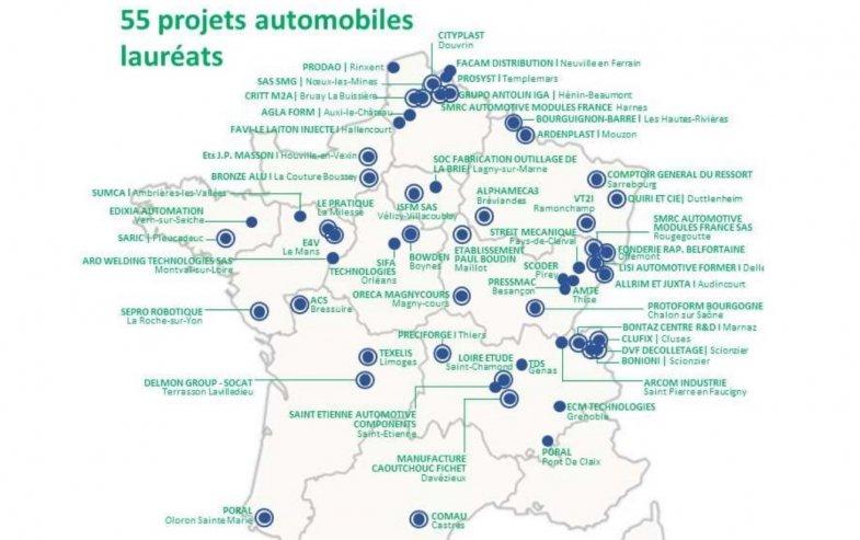 Fonds de modernisation de la filière automobile : 55 projets d'entreprise retenus