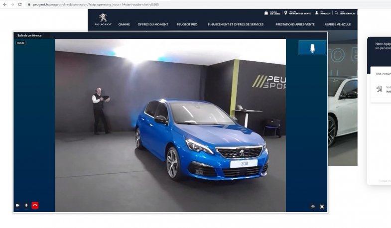 Le showroom Peugeot Direct reste ouvert pendant le confinement