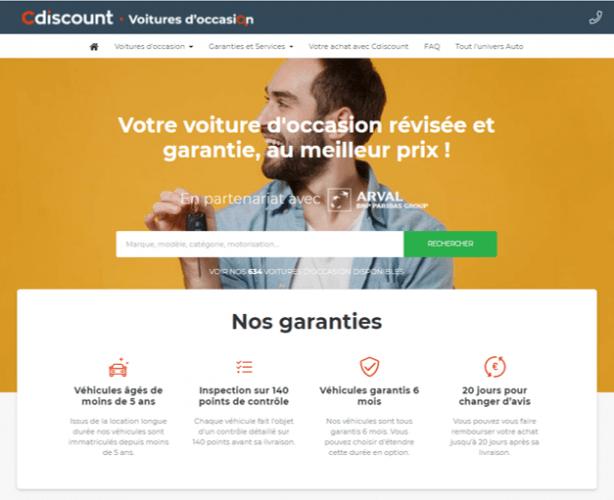 Cdiscount se lance dans la vente des véhicules d'occasion d'Arval France