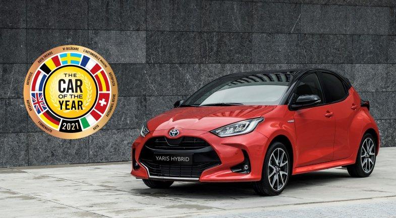 """Nette victoire de la Yaris au titre de """"The Car of the Year 2021"""""""