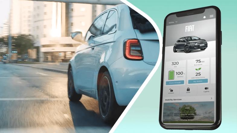 Des Kiri Coinspour récompenserl'éco-conduite en Fiat 500