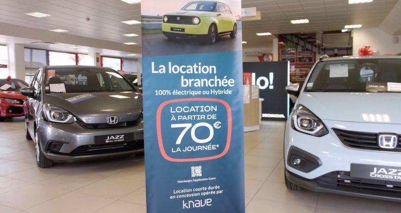 La location courte durée en test dans cinq concessions Honda