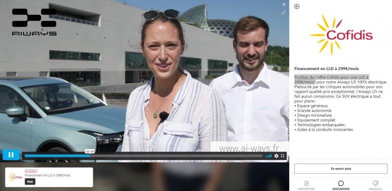 """Aiways organise son premier """"live shopping automobile"""" avec son partenaire financier Cofidis"""